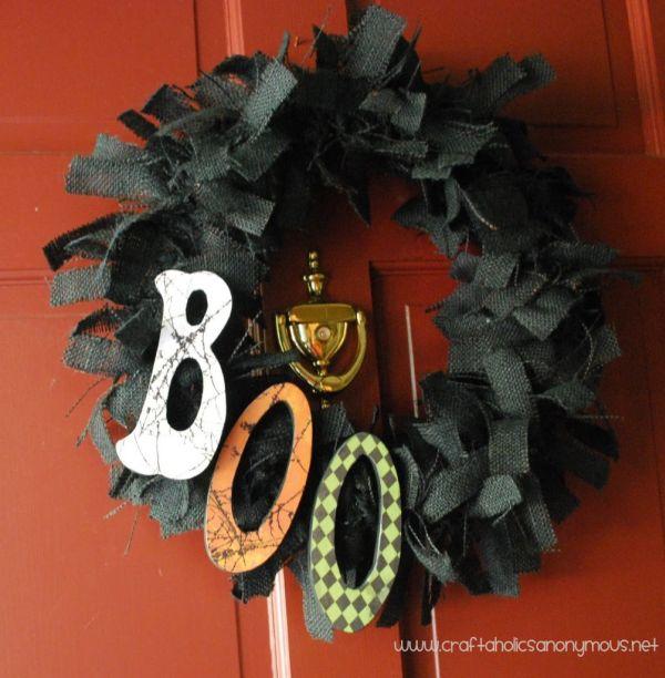 BOOtiful Burlap Wreath