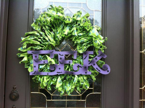 Spooky EEK Wreath