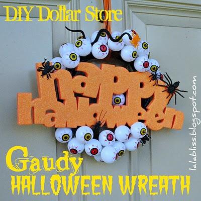 Gaudy Halloween Wreath