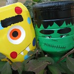14 Spooky Halloween Crafts using Milk Jugs