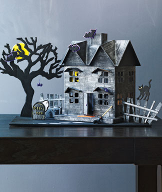 Paper Mache Haunted House