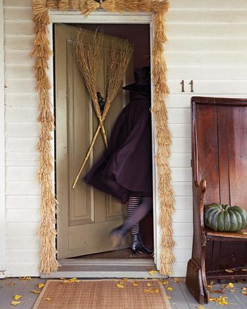 Witches Broom Door Decoration