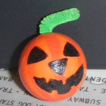 Finished Jack-o-Lantern Bead