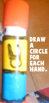 Draw a circle for each hand.