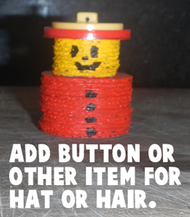 Add button or other item for hat or hair.