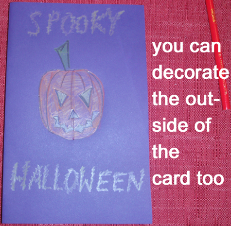 You can decorate the outside of the card too.
