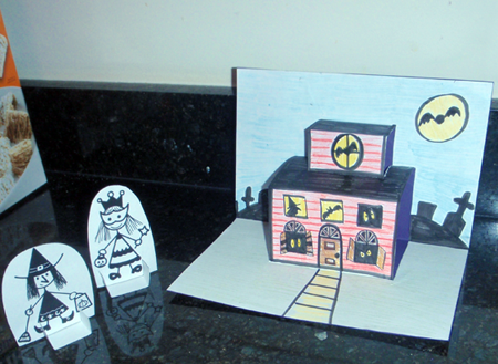 Haunted House Pop Up Cards