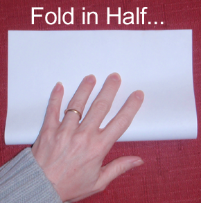 Fold in half.