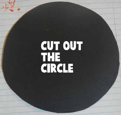 Cut out the circle.