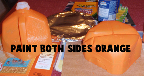 Paint both sides orange.