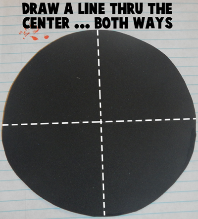 Draw a line thru the center.... both ways.