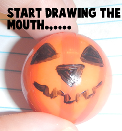 Start drawing the mouth