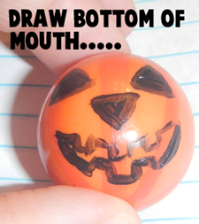 Draw bottom of the mouth