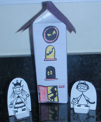 Finished Haunted House Treat Holder