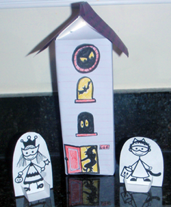 Haunted House Milk Carton for Treats
