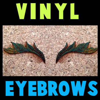 How to make Leather or Vinyl Eyebrows for Halloween