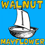 How to Make a Mayflower Walnut Boat