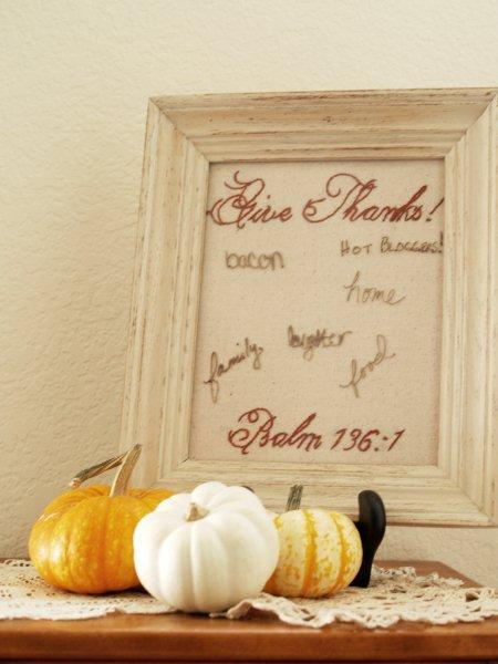 Changeable Frames for Thankfulness