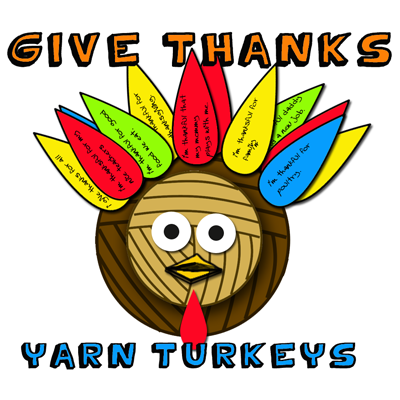 Give Thanks Yarn Turkey