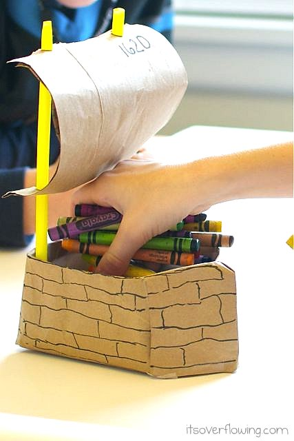 Mayflower Crayon Holder