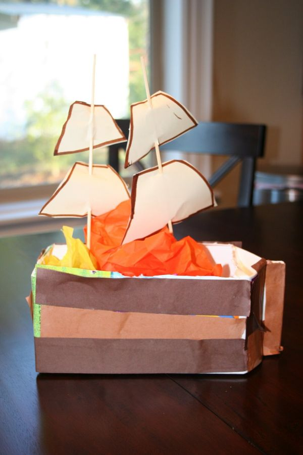 Mayflower Milk Carton Craft