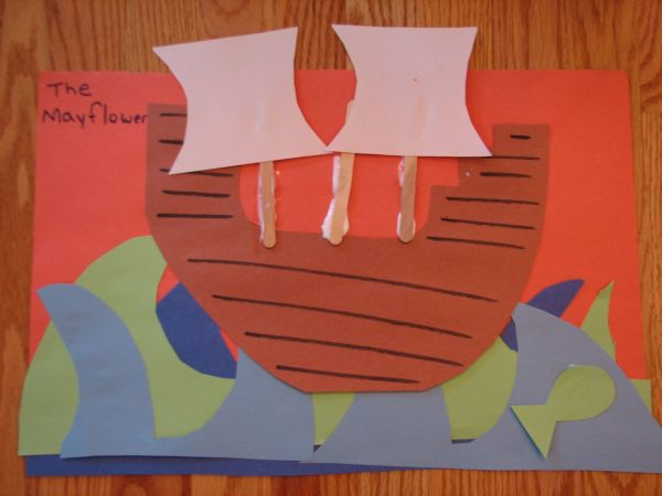 Mayflower Popsicle Craft