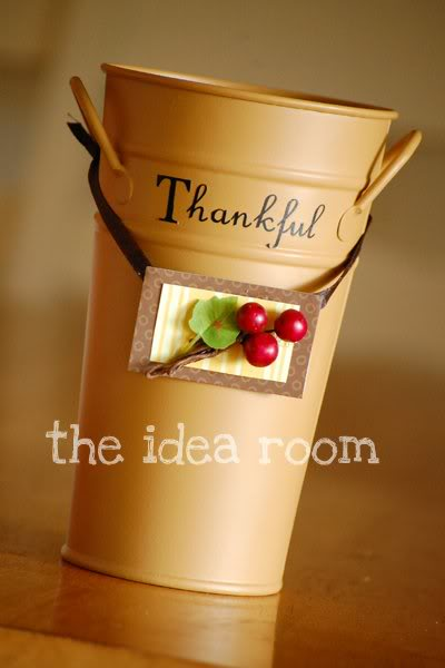 Thanksgiving Thankful Bucket