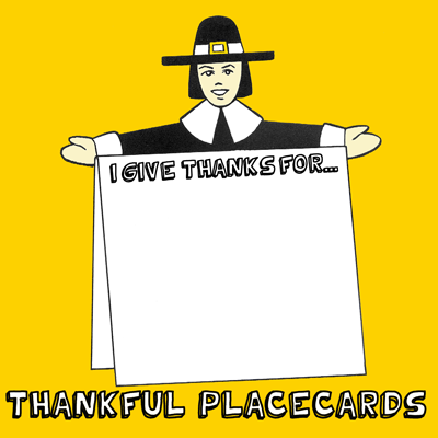 Thankful Pilgrim Place Cards