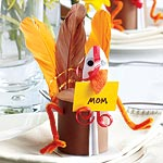 Whimsical Turkey Place Cards