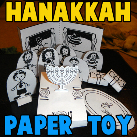 How to Make a Hanukkah Dinner Paper Craft Toy