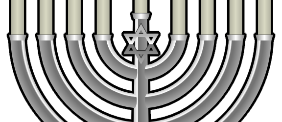 Magnetic Hanukkah Menorah Template