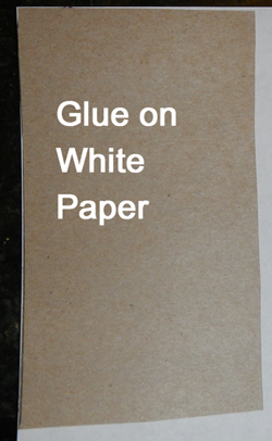 Glue on white paper.