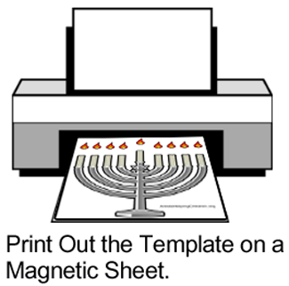Print out the template on a magnetic sheet.
