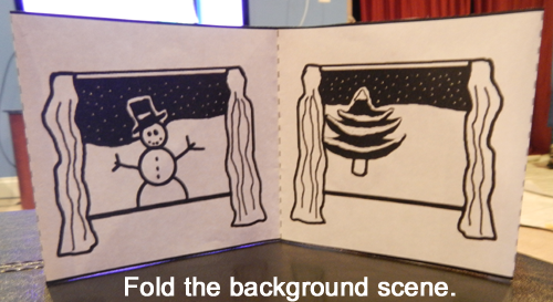 Fold the background scene.