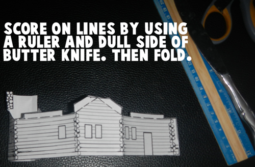 Score on lines by using a ruler and dull side of butter knife.  Then fold.