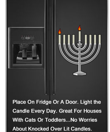 Place on fridge or a door.