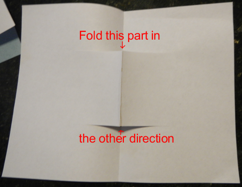 Fold this part in.... the other direction.