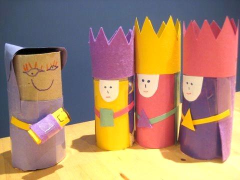Cardboard Tubes Nativity Scene