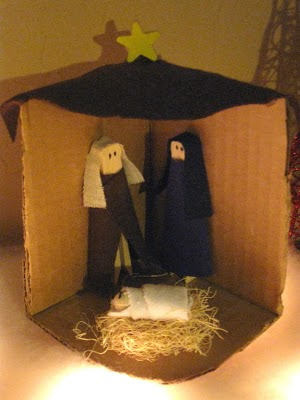 Clothespin Nativity Scene