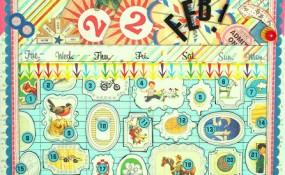 Colorful Perpetual Calendar