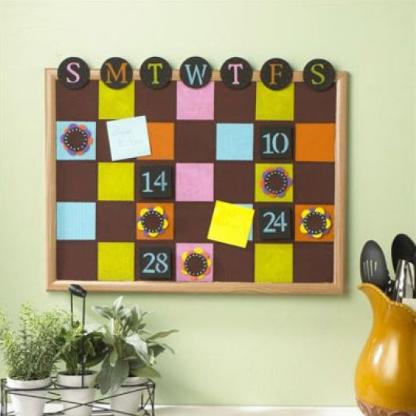 Corkboard Perpetual Calendar