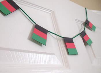 Kwanzaa Flag Garland