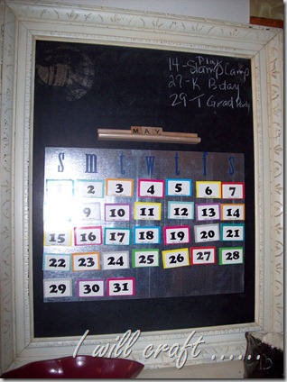 Perpetual Chalkboard Calendar
