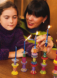 Wood Menorah Craft