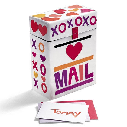 Cardboard Box Valentine Mailbox