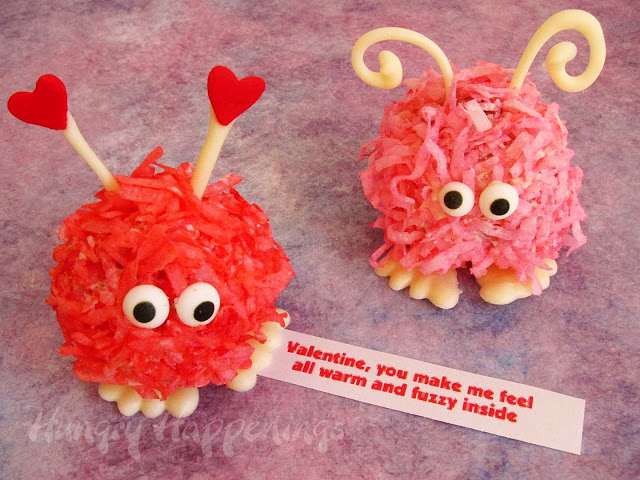 Valentine's Fuzzy Cake Balls