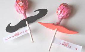 Lip & Mustache Lollipops