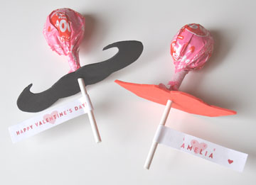 Lip & Mustache Lollipops