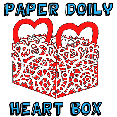 Paper Doily Heart Valentine Box