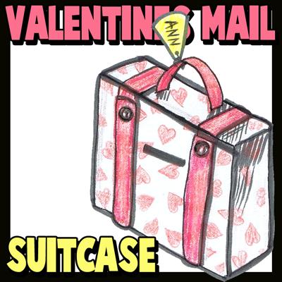 Valentine's Day Suitcase Mailbox